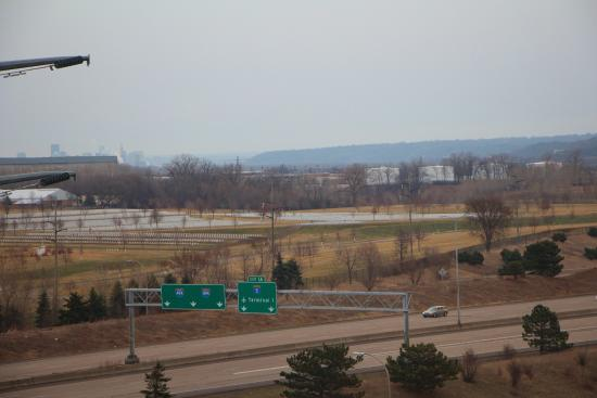 Embassy Suites by Hilton Minneapolis - Airport: view of Ft Snelling Nat'l Cemetary from north side room