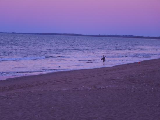 Moore Park Beach, Australia: Beach fishing at dusk