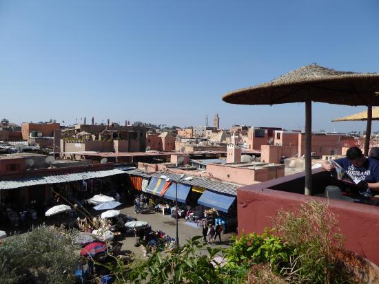 Parte De La Terraza Picture Of Cafe Des Epices Marrakech