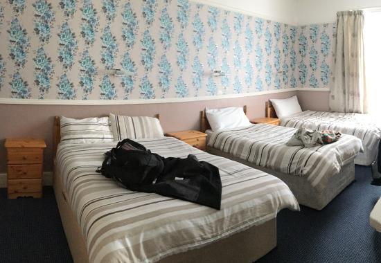 Stanley House: unser 3Bettzimmer in der 2. Etage