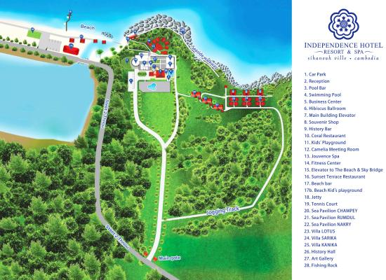 Property Map Picture of Independence Hotel Resort Spa