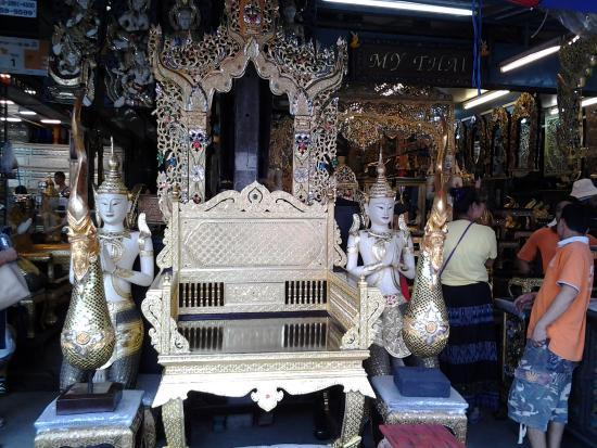 Chatuchak Weekend Market: Antique Thai Furniture  Indoors