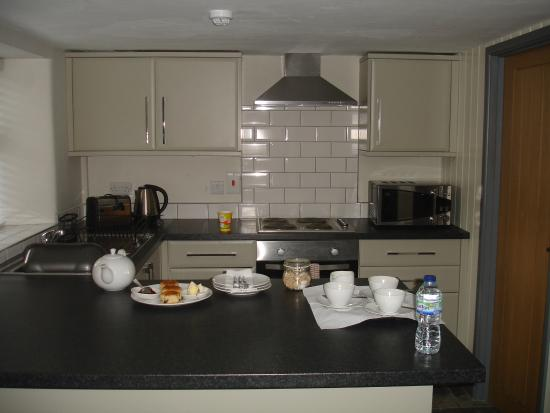 Croscombe, UK: Cozinha aberta para a sala