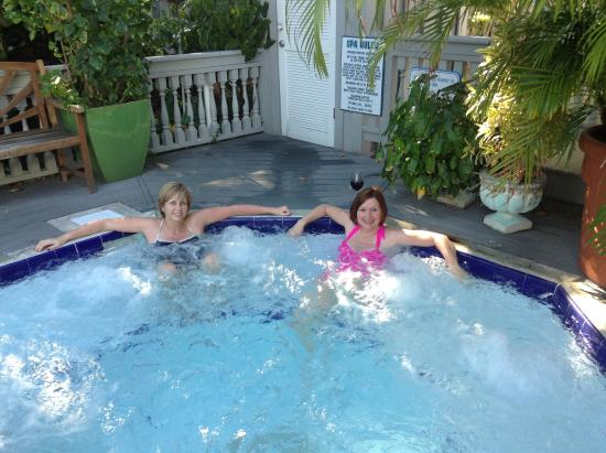 The hot tub with my wife picture of eden house key west for Florida hot tubs