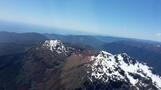 ควีนส์ทาวน์, นิวซีแลนด์: Taken though the plane window