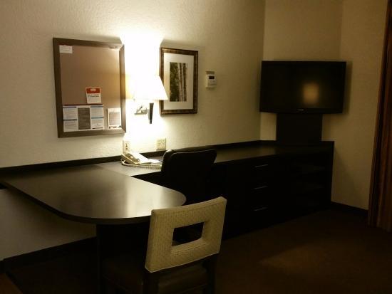 Morris Plains, NJ: Work desk and TV