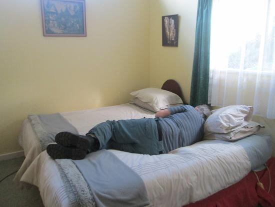 Waitomo Big Bird Bed & Breakfast: Our room after a day of driving on the left.