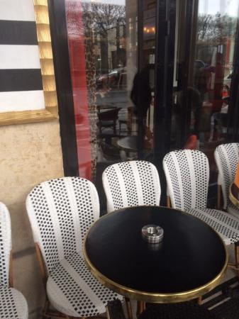 outdoor cafe tables and menu picture of l imperial paris rh en tripadvisor com hk