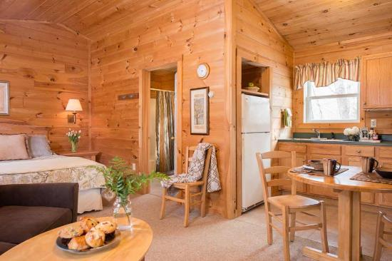 Jeffersonville, VT: Cozy, yet spacious studio cabins.