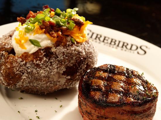 Firebirds Wood Fired Grill: Filet & Baked Potato