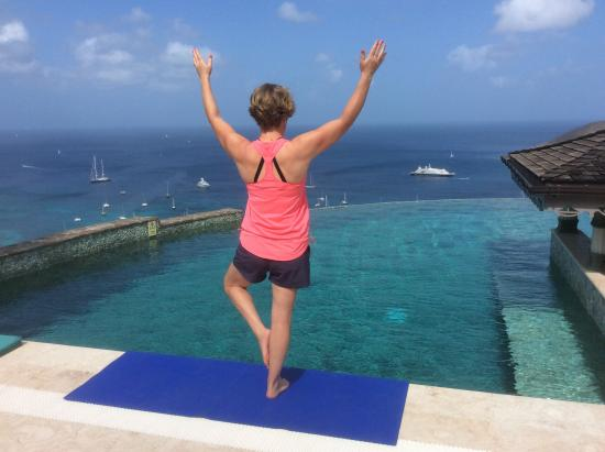 Richmond, Bequia: Yoga with a view!