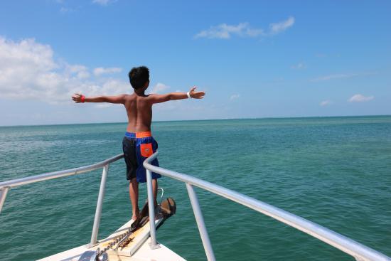 George Town, Wielki Kajman: Boat ride back to Grand Cayman