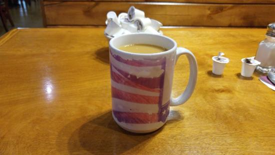nice big cup of coffee - Picture of Sawyer\'s Farmhouse Restaurant ...