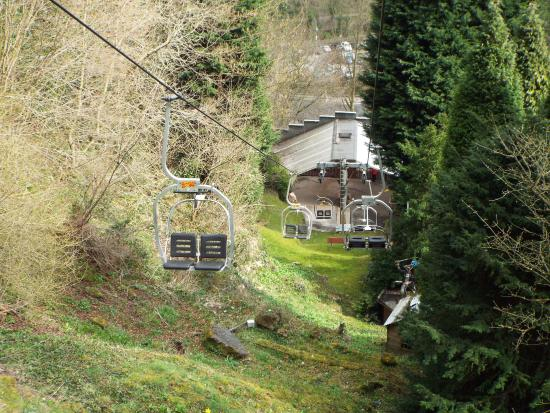 Chair lift picture of gulliver 39 s kingdom matlock bath for Hillside elevator cost