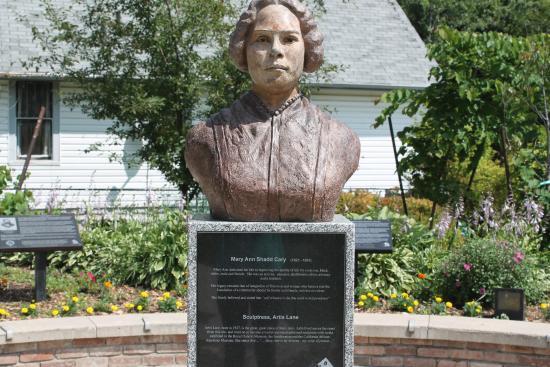 Chatham, Canada: Bust of Mary Ann Shadd, by Artis Shreve Lane