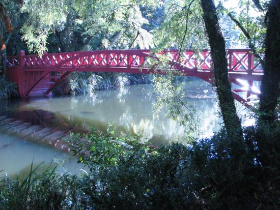 New Plymouth, New Zealand: The famous red bridge.