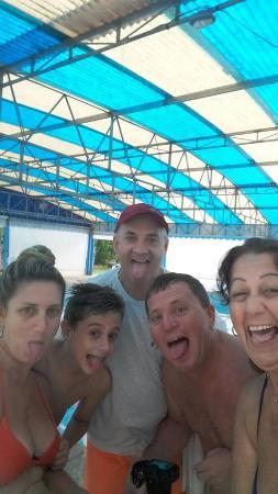 Hotel Termas Rio do Pouso: a piscina tem 1,5m profundidade e 12 x 25m de comprimento