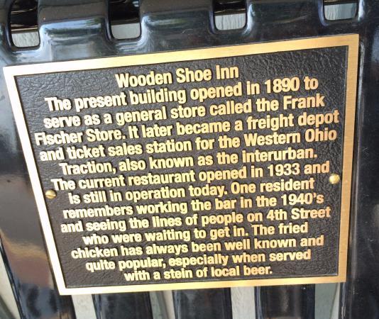 Minster, OH: wooden shoe inn