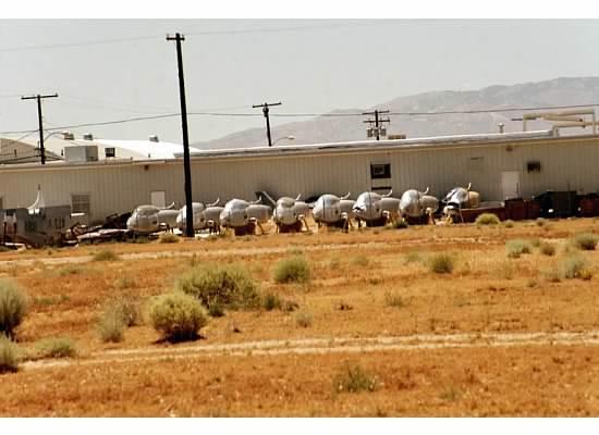 Mojave, CA: Fouga Magister hulks