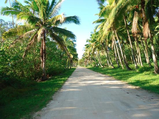 Mangaia, Isole Cook: main road around the island