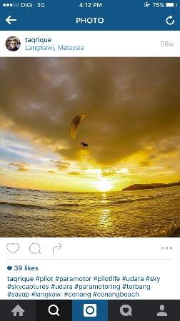 Langkawi Gliders: It always good to be in the air while the sun goes down