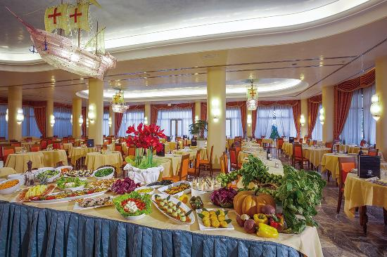 Hotel Abano Terme Cristoforo: sala da pranzo