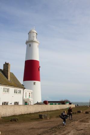 the lighthouse from the carpark picture of portland bill rh tripadvisor com
