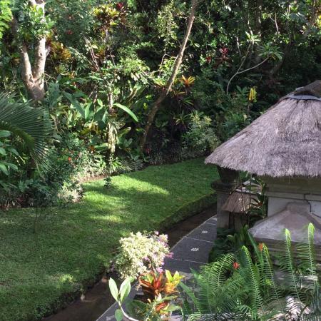 Alam Jiwa: Rooms are in multi-level villa in tranquil garden setting.