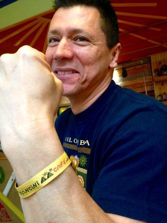 Worcestershire, UK: Francini's loyalty bracelet
