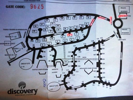 Discovery Park Map on
