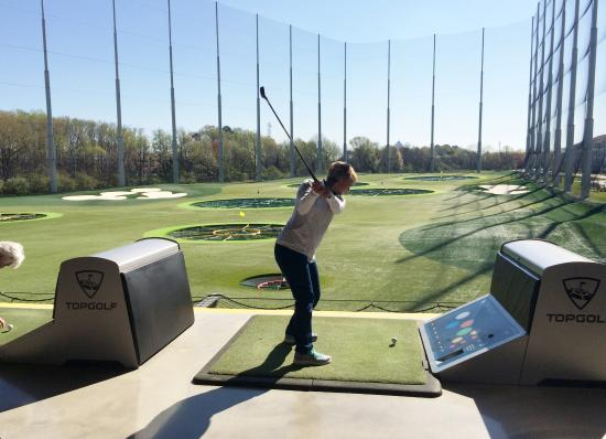 Topgolf Virginia Beach Hitting Bay With Targets Visible
