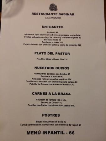 Calatanazor, Spain: Carta