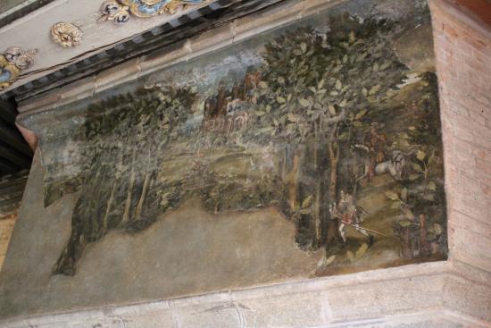 Carrouges, Fransa: dessus de cheminée 16eme siècle