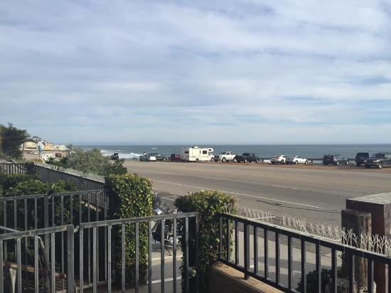 View of the beach from Neptune's Net patio along PCH , Malibu