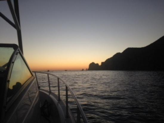 Indigo Adventures: Heading out of Cabo at dawn.