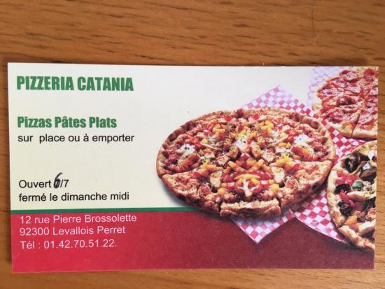 Pizza Catania Carte De Visite