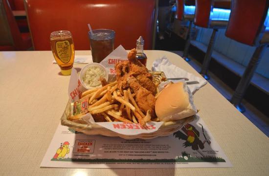 Palms Krystal Bar & Grill: 4 pc Chicken in the Rough Dinner