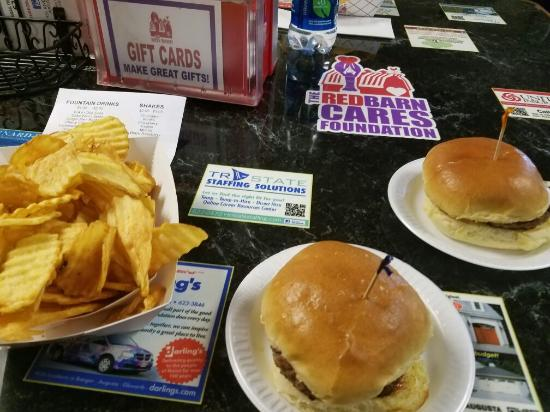 Burgers And Chips Picture Of The Red Barn Augusta Tripadvisor