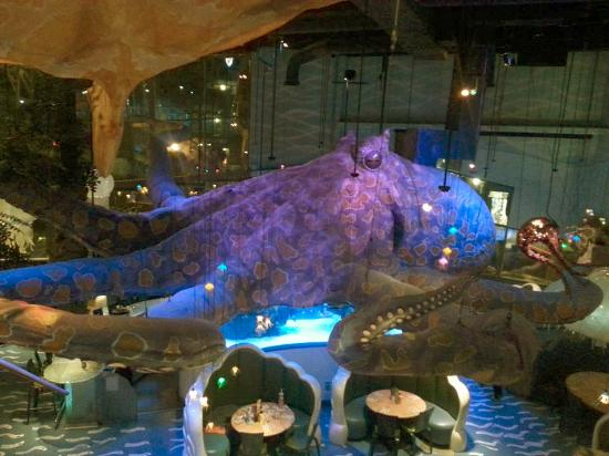 Giant Octopus in the ceiling - Picture of T-Rex, Kansas City