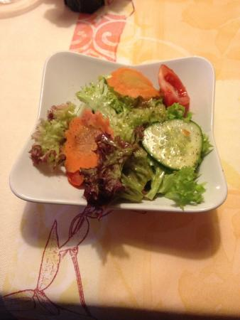 Hotel-Gasthof Waldeck: Salatbeilage