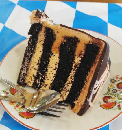Au Train, MI: Salted Caramel Chocolate Cake