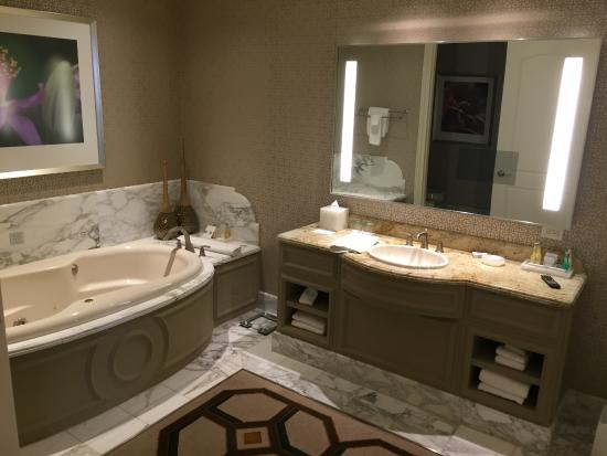 the hers bathroom with separate closet in mirror you see separate rh tripadvisor co uk