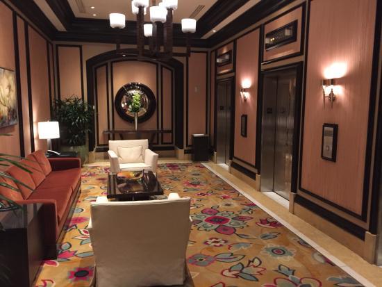 Bellagio Las Vegas: Private elevator lounge for Penthouse suites.