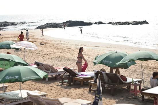 Anjuna, India: View from Curlies