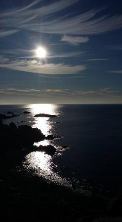 From Dunure Castle, lovely coastline