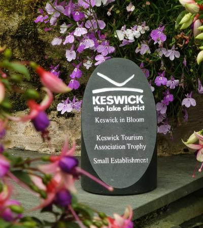 Larry's Lodge: Keswick In Bloom winners trophy