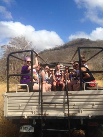 """Aracne Rappelling Day Tours: The """"car"""" ride over"""
