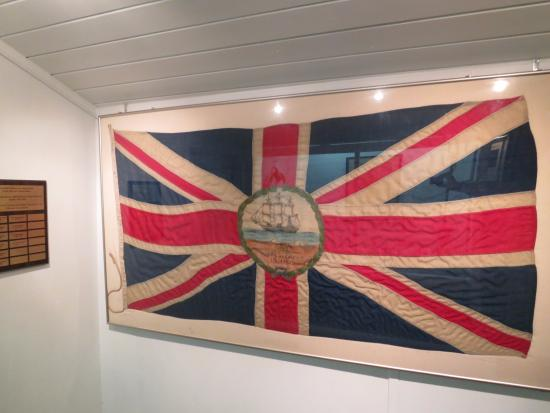 Turks & Caicos National Museum: Old flag of Turks and Caicos Islands