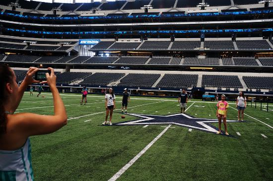 Arlington, TX: Touring AT&T Stadium is like no other stadium in the country, you can get on the field the big b