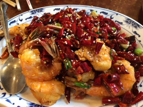 Sichuan Pavilion: Shrimp with dried red chilies